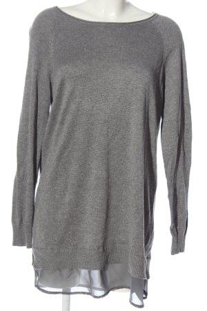 Boysen's Maglione lungo grigio chiaro puntinato stile casual