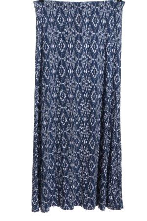 Boysen's Maxi rok blauw-wit volledige print casual uitstraling