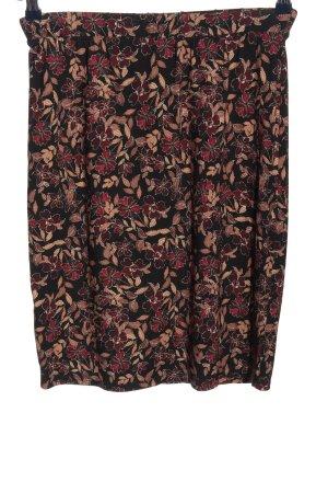 Boysen's Minigonna nero-rosso stampa integrale stile casual