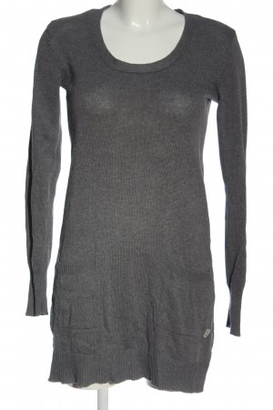 Boysen's Abito maglione grigio chiaro puntinato stile casual