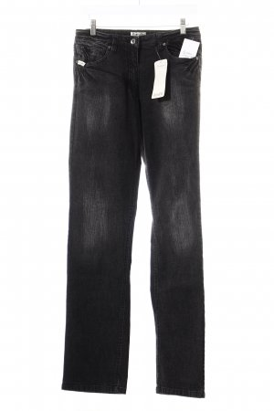 Boysen's Straight-Leg Jeans schwarz-grau Washed-Optik