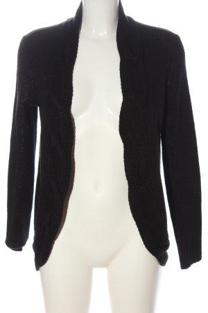 Boysen's Cardigan in maglia nero punto treccia stile casual