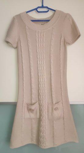 Boysen's Gebreide jurk licht beige