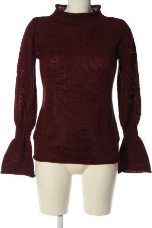 Boysen's Maglione lavorato a maglia rosso punto treccia stile casual