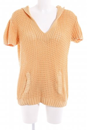 Boysen's Strickshirt hellorange Casual-Look