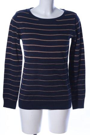 Boysen's Camicia maglia color carne-blu scuro stampa integrale stile casual