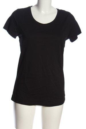 Boysen's T-shirt zwart casual uitstraling