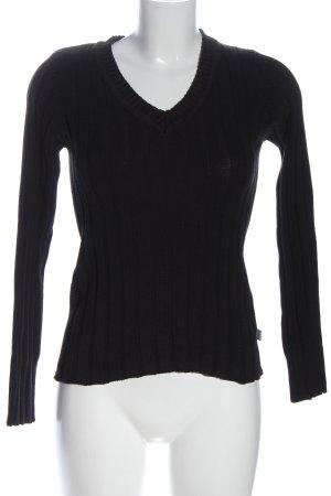 Boysen's V-Ausschnitt-Pullover schwarz Casual-Look