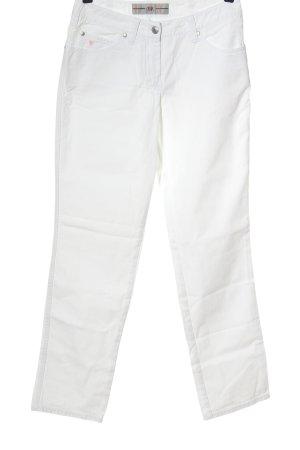 BP. Jeans taille haute blanc style décontracté