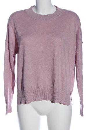 BP. Pull tricoté violet style décontracté