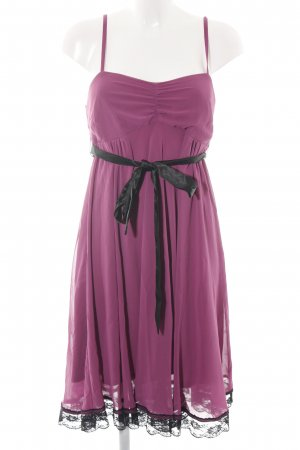 bpc Babydollkleid pink-schwarz Casual-Look
