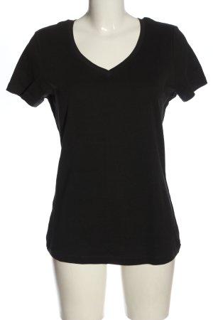 bpc Basic-Shirt schwarz Casual-Look