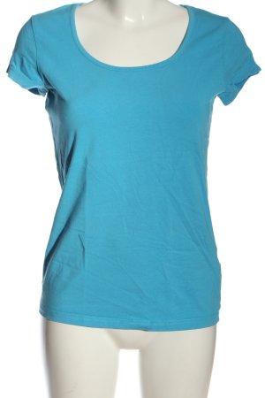 bpc Basic-Shirt blau Casual-Look