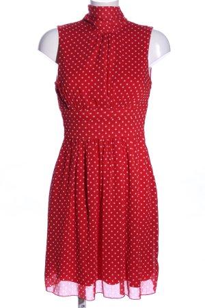 bpc Blusenkleid rot-wollweiß Allover-Druck Casual-Look