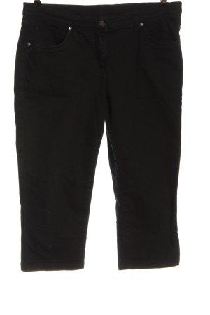 bpc bonprix collection Jeans 3/4 noir style décontracté