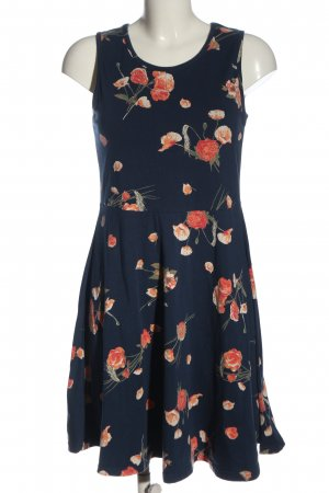 bpc bonprix collection A-Linien Kleid blau-hellorange Allover-Druck Casual-Look