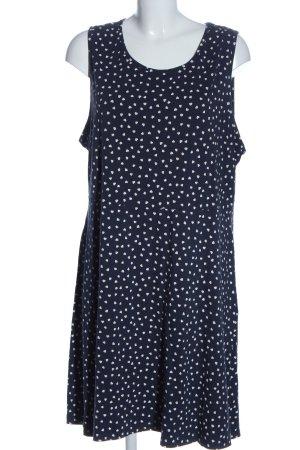 bpc bonprix collection A-Linien Kleid blau-weiß Allover-Druck Casual-Look