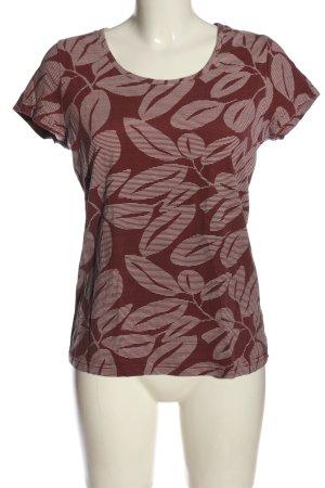 bpc bonprix collection Basic-Shirt rot-weiß Allover-Druck Casual-Look