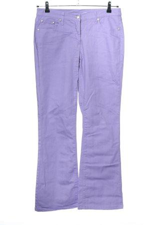 bpc bonprix collection Jeansy o kroju boot cut fiolet W stylu casual