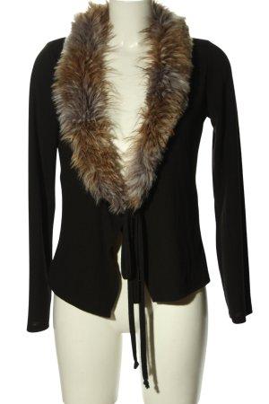 bpc bonprix collection Kardigan czarny-brązowy W stylu casual