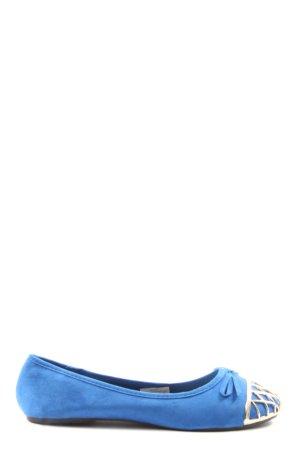 bpc bonprix collection Foldable Ballet Flats blue-gold-colored casual look