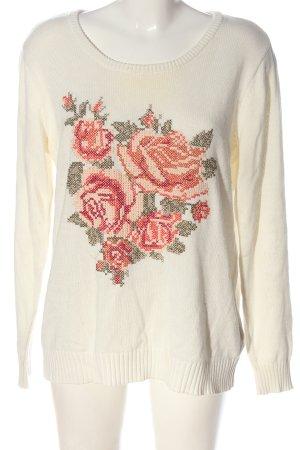 bpc bonprix collection Feinstrickpullover Blumenmuster Casual-Look