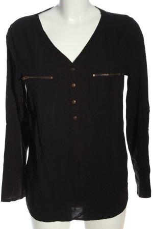 bpc bonprix collection Hemd-Bluse schwarz Casual-Look