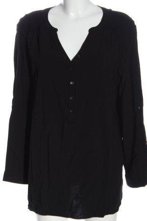 bpc bonprix collection Koszulowa bluzka czarny W stylu biznesowym