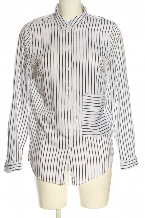 bpc bonprix collection Blouse-chemisier blanc-noir motif rayé
