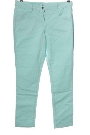 bpc bonprix collection Jeansy z wysokim stanem turkusowy W stylu casual