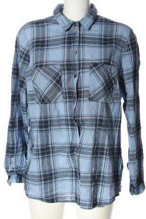 bpc bonprix collection Lumberjack Shirt blue-light grey check pattern