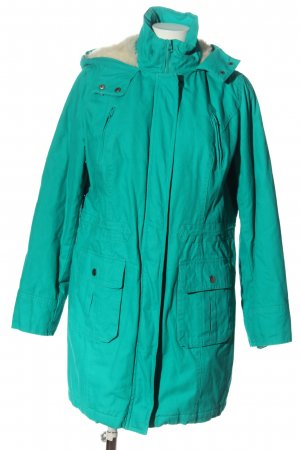 bpc bonprix collection Hooded Coat turquoise casual look