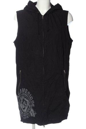 bpc bonprix collection Capuchon vest zwart prints met een thema