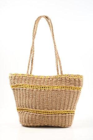 bpc bonprix collection Torebka koszyk kremowy-bladożółty W stylu casual