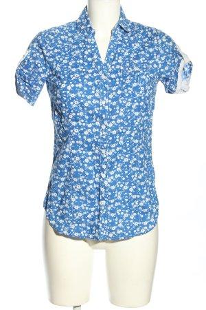 bpc bonprix collection Camisa de manga corta azul-blanco estilo «business»