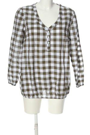 bpc bonprix collection Bluzka z długim rękawem biały-brązowy W stylu casual