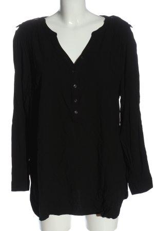 bpc bonprix collection Bluzka z długim rękawem czarny W stylu casual
