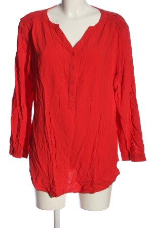 bpc bonprix collection Bluzka z długim rękawem czerwony W stylu casual
