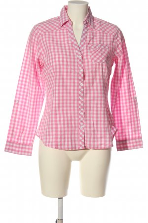 bpc bonprix collection Long Sleeve Shirt pink-white allover print business style