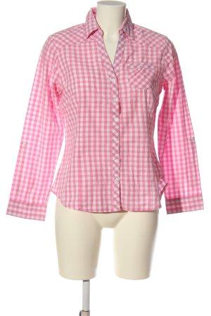 bpc bonprix collection Langarmhemd pink-weiß Allover-Druck Business-Look