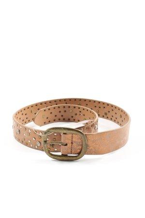 bpc bonprix collection Cinturón de cuero de imitación marrón-gris claro