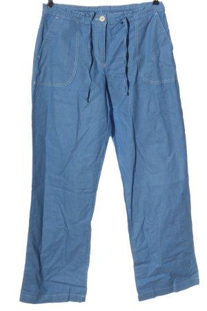 bpc bonprix collection Linen Pants blue casual look