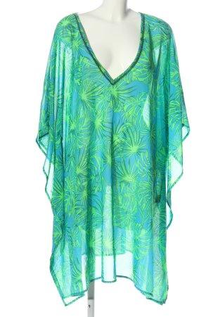 bpc bonprix collection Long Blouse blue-green allover print elegant