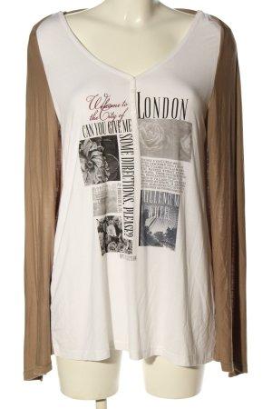 bpc bonprix collection Camicia lunga marrone-bianco sporco Stampa a tema