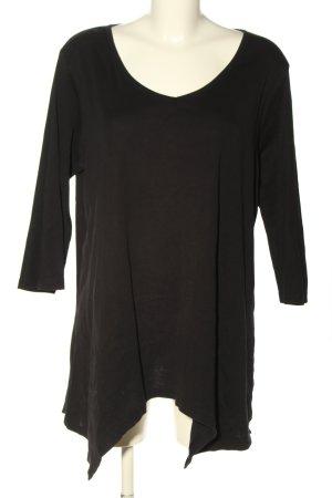 bpc bonprix collection Długa koszulka czarny W stylu casual
