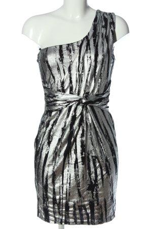 bpc bonprix collection Mini Abito nero-argento motivo astratto stile casual