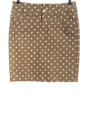 bpc bonprix collection Minigonna marrone-bianco motivo a pallini stile casual