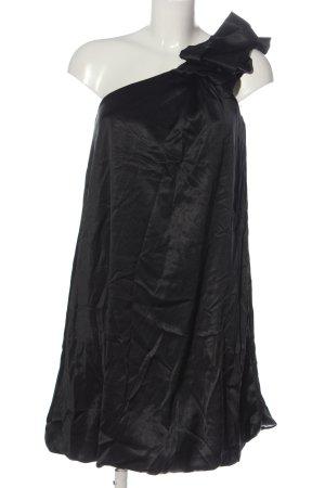 bpc bonprix collection Sukienka na jedno ramię czarny Z połyskiem