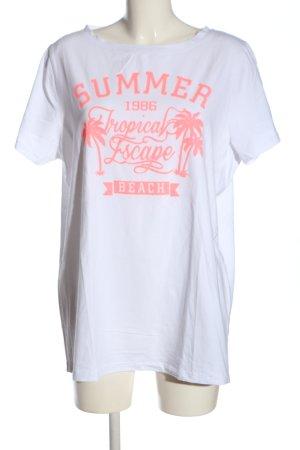 bpc bonprix collection Camicia fantasia bianco-rosa Stampa a tema stile casual