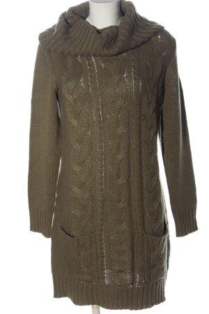 bpc bonprix collection Sweater Dress khaki cable stitch casual look